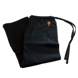 高級 綿100%空手道衣用ズボン(黒) サイズ1 e-bogu