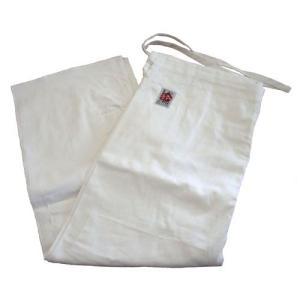 高級450G合気道衣用ズボン(白晒) サイズ0〜2|e-bogu