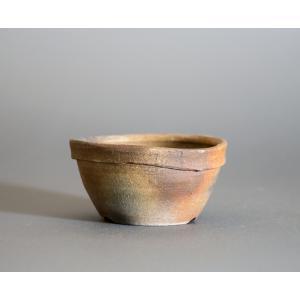 経年美化|使用済盆栽鉢 焼締丸盆栽鉢 盆栽鉢 國井正子鉢 a0006|e-bonsai