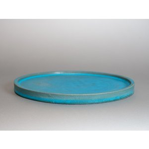 水盤 青銅マット釉丸 水盤・陶版 b001 e-bonsai