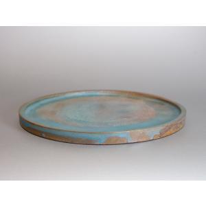 水盤 青銅マット釉丸 水盤・陶版 b002 e-bonsai