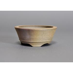 焼締盆栽鉢 丸盆栽鉢 h3234|e-bonsai
