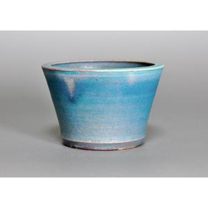 盆栽鉢 青銅マット釉 丸盆栽鉢 h3425|e-bonsai
