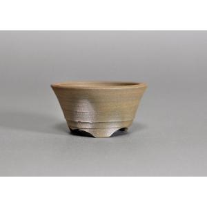 焼締盆栽鉢 丸盆栽鉢 h3506|e-bonsai