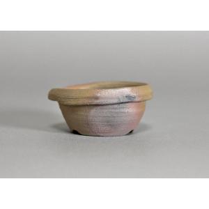 焼締盆栽鉢 丸盆栽鉢 h3507|e-bonsai