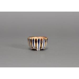 豆盆栽鉢 下絵付透明釉丸盆栽鉢 小さな盆栽鉢 h3615|e-bonsai