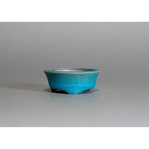 豆盆栽鉢 青銅マット釉丸盆栽鉢 小さな盆栽鉢 h3715|e-bonsai