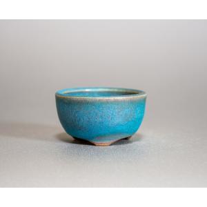 豆盆栽鉢 青銅マット釉丸盆栽鉢 小さな盆栽鉢 小鉢 p0196 e-bonsai