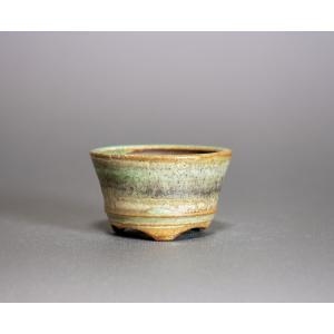 豆盆栽鉢 トルコ青結晶釉丸盆栽鉢 小さな盆栽鉢 小鉢 p0205 e-bonsai