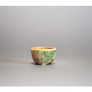 プチ盆栽鉢 織部釉 丸盆栽鉢 小鉢 小さい鉢 p0218|e-bonsai