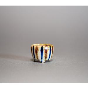 プチ盆栽鉢 下絵付透明釉 丸盆栽鉢 小鉢 小さな盆栽鉢  p0220|e-bonsai