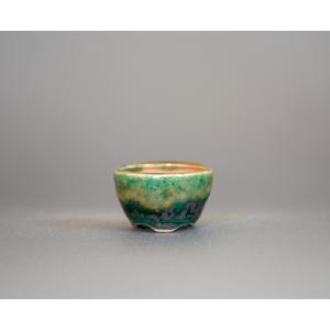 プチ盆栽鉢 織部釉 丸盆栽鉢 小鉢 小さい鉢 p0452|e-bonsai