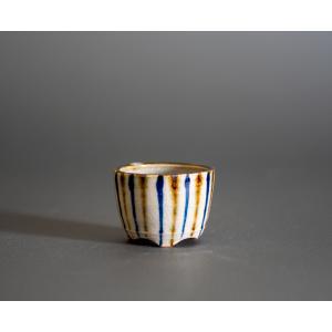 豆盆栽鉢 下絵付透明釉丸盆栽鉢 小さな盆栽鉢 小鉢 p0711 e-bonsai