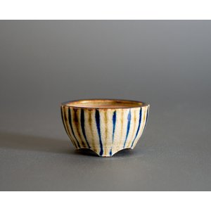豆盆栽鉢 下絵付透明釉丸盆栽鉢 小さな盆栽鉢 小鉢 p0723 e-bonsai