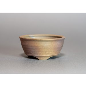 焼き締め鉢 盆栽鉢 盆栽小鉢 丸盆栽鉢 y0001|e-bonsai