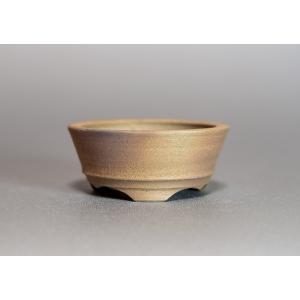 焼き締め鉢 盆栽鉢 盆栽小鉢 丸盆栽鉢 y0002|e-bonsai