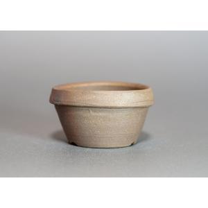 焼き締め鉢 盆栽鉢 盆栽小鉢 丸盆栽鉢 y0003|e-bonsai