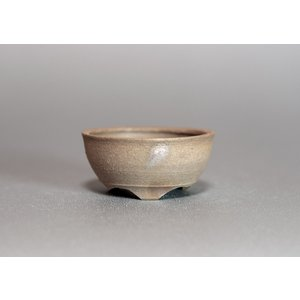 焼き締め鉢 盆栽鉢 盆栽小鉢 丸盆栽鉢 y0004|e-bonsai
