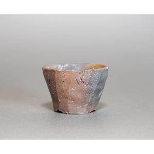 焼き締め鉢 盆栽鉢 盆栽小鉢 丸盆栽鉢 焼き締め盆栽鉢 y0014 e-bonsai