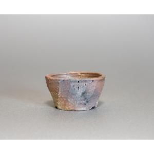 焼き締め鉢 盆栽鉢 盆栽小鉢 丸盆栽鉢 焼き締め盆栽鉢 y0015 e-bonsai