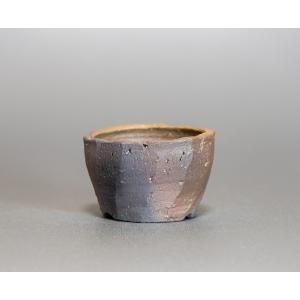 焼き締め鉢 盆栽鉢 盆栽小鉢 丸盆栽鉢 焼き締め盆栽鉢 y0018 e-bonsai