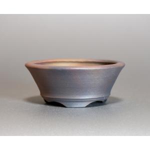 焼き締め鉢 盆栽鉢 盆栽小鉢 丸盆栽鉢 焼き締め盆栽鉢 y0019 e-bonsai