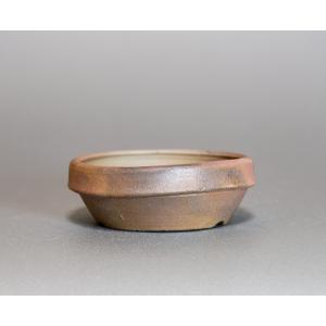 焼き締め鉢 盆栽鉢 盆栽小鉢 丸盆栽鉢 焼き締め盆栽鉢 y0020 e-bonsai