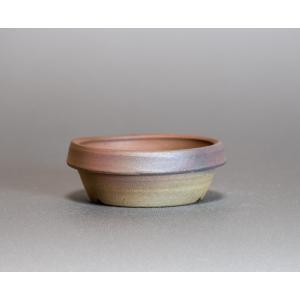 焼き締め鉢 盆栽鉢 盆栽小鉢 丸盆栽鉢 焼き締め盆栽鉢 y0021 e-bonsai