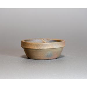 焼き締め鉢 盆栽鉢 盆栽小鉢 丸盆栽鉢 焼き締め盆栽鉢 y0022 e-bonsai