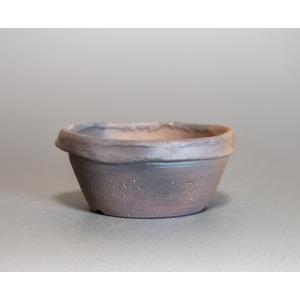 焼き締め鉢 盆栽鉢 盆栽小鉢 丸盆栽鉢 焼き締め盆栽鉢 y0024 e-bonsai