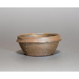 焼き締め鉢 盆栽鉢 盆栽小鉢 丸盆栽鉢 焼き締め盆栽鉢 y0027 e-bonsai