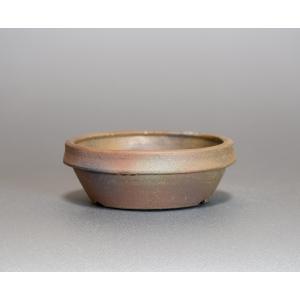 焼き締め鉢 盆栽鉢 盆栽小鉢 丸盆栽鉢 焼き締め盆栽鉢 y0028 e-bonsai
