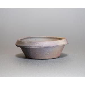 焼き締め鉢 盆栽鉢 盆栽小鉢 丸盆栽鉢 焼き締め盆栽鉢 y0029 e-bonsai