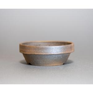 焼き締め鉢 盆栽鉢 盆栽小鉢 丸盆栽鉢 焼き締め盆栽鉢 y0030 e-bonsai