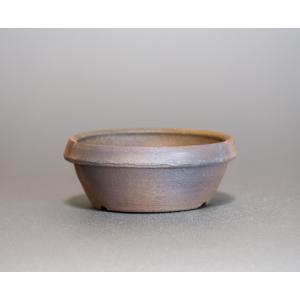 焼き締め鉢 盆栽鉢 盆栽小鉢 丸盆栽鉢 焼き締め盆栽鉢 y0031 e-bonsai