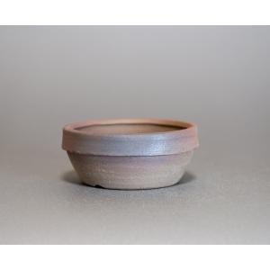 焼き締め鉢 盆栽鉢 盆栽小鉢 丸盆栽鉢 焼き締め盆栽鉢 y0032 e-bonsai