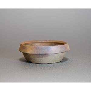 焼き締め鉢 盆栽鉢 盆栽小鉢 丸盆栽鉢 焼き締め盆栽鉢 y0033 e-bonsai