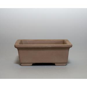 焼き締め鉢 盆栽鉢 盆栽小鉢 長方盆栽鉢 焼き締め盆栽鉢 y0054 e-bonsai