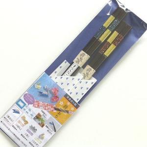 夫婦箸 若狭塗箸 箸袋折り紙詩おり 星屑 箸 お箸 はし おはし プレゼント ギフト 日本製|e-businessnext