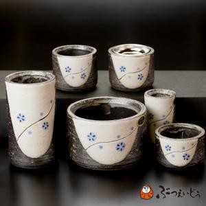 仏具・仏具6点セット 信楽焼 職人の手作り(青)