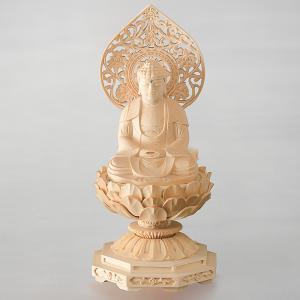 仏像・釈迦如来 八角台座 桃光背(2.5号)|e-butsudanya