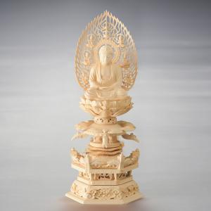 仏像・釈迦如来 六角ケマン台座 飛天光背(2.0号)|e-butsudanya