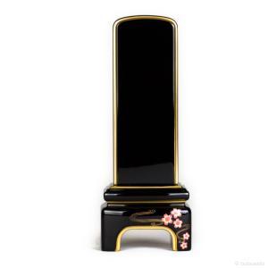 位牌・かなで 純面粉 桜(4.5寸)(文字代込)(送料無料)(品質保証)|e-butsudanya
