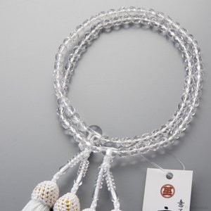 【送料無料】数珠 女性用 クリスタルカット 5mm 二連 【ネコポス】|e-butsudanya