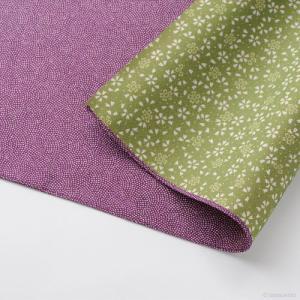 ふろしき リバーシブル 紫/緑 / 贈り物をする際の心づかい 贈り物 ふろしき ポリエステル 風呂敷 ギフト|e-butsudanya