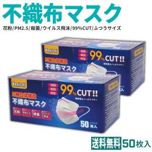 <値下げ> 不織布マスク Kenichiマスク 50枚 1箱|e-ca-web
