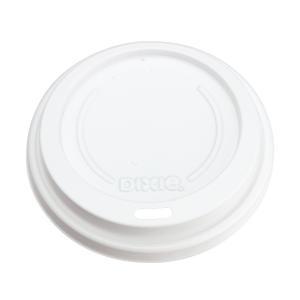 紙コップ蓋 16オンス トラベラーズリッド 白 日本デキシー GLDH16TL 径90mm用 2,000枚|e-cafe