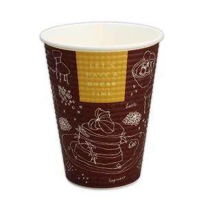 断熱紙コップ トーカン SMP−340E ブレイクタイム本体 1,250個|e-cafe
