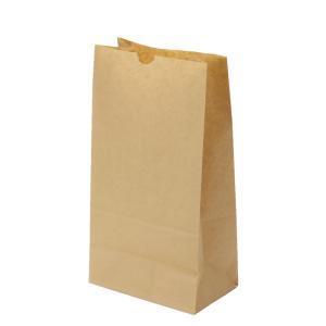 テイクアウト用紙袋 角底袋6号未晒(茶色) 150×95×h280 500枚|e-cafe