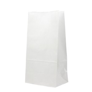テイクアウト用紙袋 角底袋6号晒(白色) 150×95×h280 500枚|e-cafe
